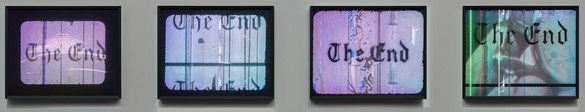 Ed Ruscha, The End #1–#4, 1998–2016 Holograms, set of 4, each: 11 × 14 inches (27.9 × 35.6 cm), edition of 23 + 2 PP© Ed Ruscha. Photo: Fredrik Nilsen