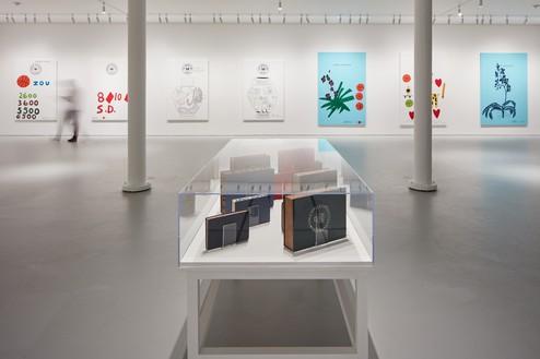 D Hologram Exhibition : Ed ruscha jonas wood notepads holograms and books san