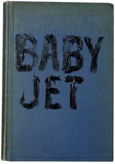Ed Ruscha, Baby Jet, 2010 Acrylic on book cover (Geschichten und Marchen, 1929 edition), 7 ⅜ × 5 ⅛ × ¾ inches (18.7 × 13 × 1.9 cm)© Ed Ruscha. Photo: Paul Ruscha