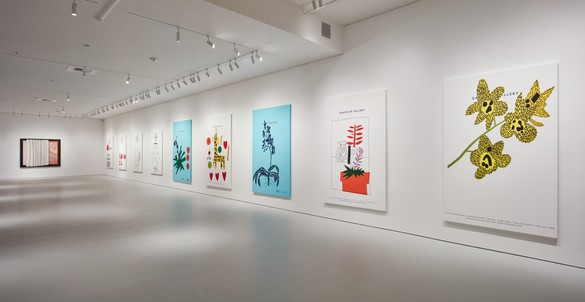 Installation view Artwork, left to right: © Ed Ruscha, © Jonas Wood. Photo: Johnna Arnold