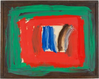 Howard Hodgkin, Paris, 2010–16 Oil on wood, 55 ¾ × 70 inches (141.6 × 177.8 cm)© Howard Hodgkin. Photo: Prudence Cumming Associates LTD