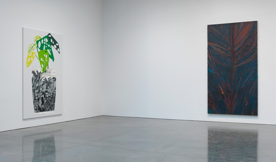 Installation view Artwork, left to right: © Mark Grotjahn, © Jonas Wood. Photo: Rob McKeever