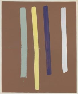 Sigmar Polke, Streifenbild IV (Stripe painting IV), 1968 Acrylic on canvas, 59 × 49 ¼ inches (149.9 × 125.1 cm)Kravis Collection© 2017 The Estate of Sigmar Polke, Cologne/ARS, New York/VG Bild-Kunst, Bonn