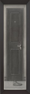 Paul Noble, Black Door, 2015 Pencil on paper, in artist's frame, 61 ¼ × 20 ⅛ × 4 ½ inches (155.6 × 51.1 × 11.3 cm)© Paul Noble. Photo: Mike Bruce