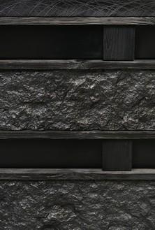 Peter Marino, Rough Stone Box, 2017 (detail) Blackened bronze, 33 ⅛ × 50 ⅜ × 20 ⅞ inches (84.2 × 128 × 53 cm), edition of 8 + 4 AP© Peter Marino Architect. Photo: Manolo Yllera