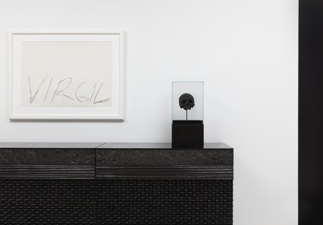Installation view Artwork, left to right: © Peter Marino Architect, © Damien Hirst and Science Ltd., © Cy Twombly Foundation. Photo: Lucy Dawkins