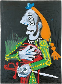 Pablo Picasso, Torero, 1970 Oil on canvas, 51 ⅛ × 38 ¼ inches (130 × 97 cm)© Estate of Pablo Picasso/Artists Rights Society (ARS), New York. Photo: Eric Baudouin