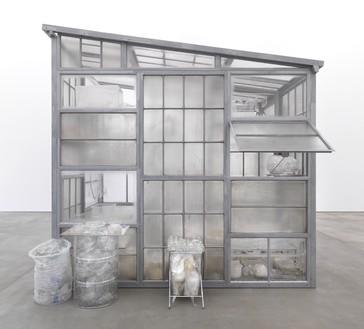 Robert Therrien, Transparent Room, 2010 Steel, glass, plastic, 145 × 108 × 156 inches (368.3 × 274.3 × 396.2 cm)© Robert Therrien. Photo: Jens Ziehe/Photographie