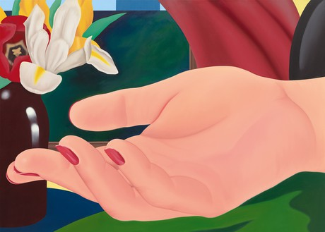Tom Wesselmann, Gina's Hand, 1972–82 Oil on canvas, 59 × 82 inches (149.9 × 208.3 cm)© The Estate of Tom Wesselmann/Licensed by VAGA, New York. Photo: Jeffrey Sturges