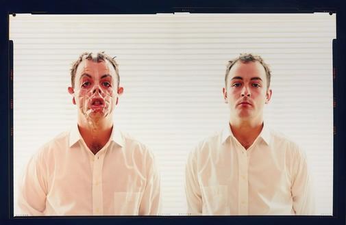 Douglas Gordon, Monster Reborn, 2002 Transmounted chromogenic print, 32 × 48 inches (81.3 × 121.9 cm), edition of 11 + 3 AP© Studio lost but found/VG Bild-Kunst, Bonn 2018