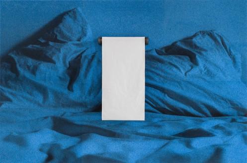 Adam McEwen, TBT (Towel Holder), 2018 Inkjet print on cellulose sponge, graphite, and cotton, 59 ⅞ × 90 × 7 ¼ inches (152.1 × 228.6 × 18.4 cm)© Adam McEwen. Photo: Jeff McLane