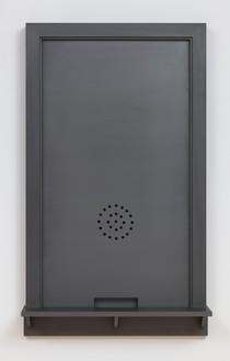 Adam McEwen, Ticket Window, 2017 Graphite, 42 ⅛ × 25 × 6 inches (107 × 63.5 × 15.2 cm), edition of 3© Adam McEwen. Photo: Rob McKeever