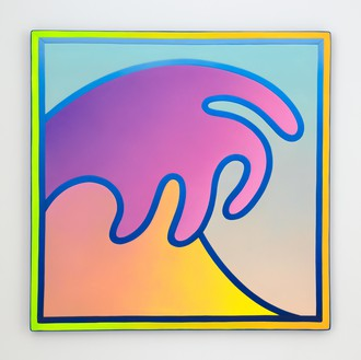 Alex Israel, Wave, 2018 Acrylic on fiberglass, 73 × 73 inches (185.4 × 185.4 cm)© Alex Israel