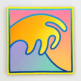 Alex Israel, Wave, 2018 Acrylic on fiberglass, 49 ½ × 49 ½ inches (125.7 × 125.7 cm)© Alex Israel