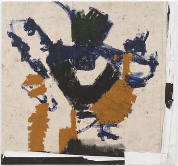 Joe Bradley, Real Goon, 2017 Oil on canvas, 62 ¼ × 66 ⅛ inches (158.1 × 168 cm)© Joe Bradley