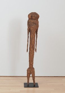 Unknown artist, clan shrine figure, Tchitcheri Sakwa (Togo), c. 1900 Wood, 53 × 8 × 8 inches (134.6 × 20.3 × 20.3 cm)