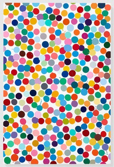 Damien Hirst, Deep Leaf, 2016 Household gloss on canvas, 72 × 48 inches (182.9 × 121.9 cm)© Damien Hirst and Science Ltd. All rights reserved, DACS 2018