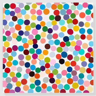 Damien Hirst, Manganese, 2016 Household gloss on canvas, 59 × 59 inches (149.9 × 149.9 cm)© Damien Hirst and Science Ltd. All rights reserved, DACS 2018