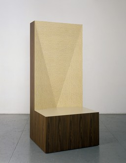 Richard Artschwager, Seat of Judgement, 2008 Formica on wood, 93 × 42 × 36 inches (236.2 × 106.7 × 94.1 cm)© 2018 Richard Artschwager/Artists Rights Society (ARS), New York