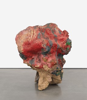 Franz West, Sisyphos V, 2002 Papier-mâché, Styrofoam, cardboard, lacquer, and acrylic, 60 × 48 × 48 inches (152.4 × 121.9 × 121.9 cm)© Archiv Franz West