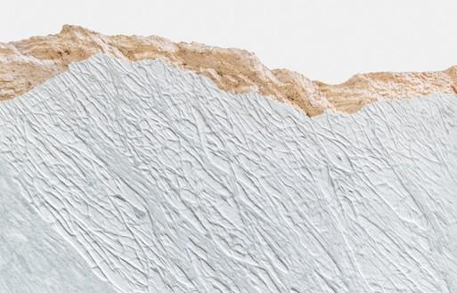 Giuseppe Penone, Pelle del monte, 2012 (detail) Carrara marble, 67 × 63 × 2 ¼ inches (170.2 × 160 × 5.7 cm)© Giuseppe Penone. Photo: Douglas M. Parker Studio