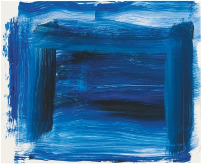 Howard Hodgkin, Elegy, 2014–15 Oil on wood, 16 ⅝ × 20 ½ inches (42.2 × 52.1 cm)© Howard Hodgkin Estate