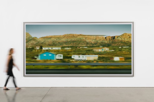 Installation view with Andreas Gursky, Utah (2017) © Andreas Gursky/Artists Rights Society (ARS), New York, 2018. Photo: Jeff McLane