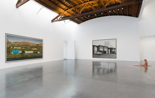 Installation view Artwork, left to right: © Andreas Gursky/Artists Rights Society (ARS), New York, 2018; © Jeff Wall; © 2018 Estate of Duane Hanson/Licensed by VAGA at Artists Rights Society (ARS), New York. Photo: Jeff McLane
