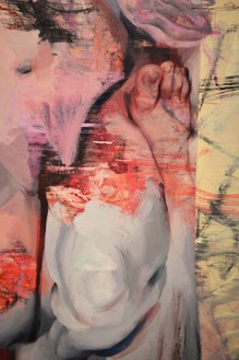 Jenny Saville, Vis and Ramin II, 2018 (detail) Oil on canvas, 76 ½ × 128 ½ inches (194.3 × 326.4 cm)© Jenny Saville