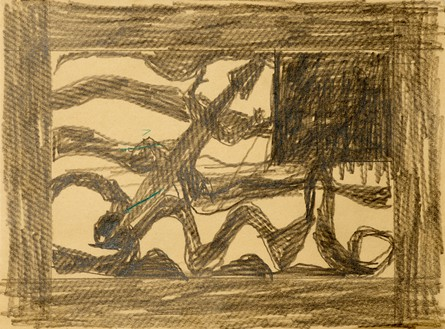 Joe Bradley, Untitled, 2017 Graphite on paper, 8 ⅞ × 12 inches (22.7 × 30.5 cm)© Joe Bradley