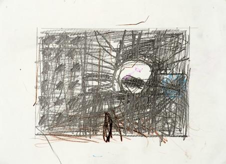 Joe Bradley, Untitled, 2018 Graphite on paper, 8 ¾ × 11 inches (22.2 × 27.9 cm)© Joe Bradley. Photo: David Lindsay