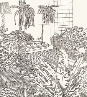 Jonas Wood, 8 Etchings, 2014 (detail) Ink on Japanese paper, in 8 parts, each: 16 × 14 inches (40.6 × 35.6 cm), edition of 10 + 3 AP© Jonas Wood. Photo: Brian Forrest