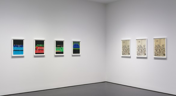 Installation view Artwork © Jonas Wood. Photo: Rob McKeever