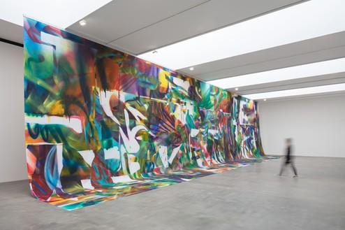 Installation view Artwork © Katharina Grosse and VG Bild-Kunst, Bonn. Photo: Lucy Dawkins