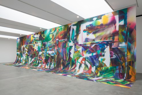 Installation view Artwork © Katharina Grosse and VG Bild-Kunst, Bonn. Photo: Lucy Dawkins