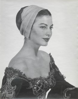 "Man Ray, Ava Gardner in costume for Albert Lewin's ""Pandora and the Flying Dutchman,"" Hollywood, 1950 Vintage gelatin silver print, 10 × 8 inches (25.4 × 20.3 cm)© Man Ray Trust/Artists Rights Society (ARS), New York/ADAGP, Paris 2018"