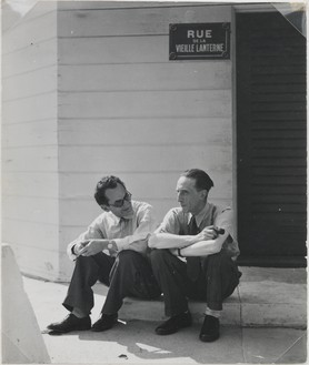 Man Ray, Man Ray with Duchamp, 1948 Vintage gelatin silver print, 3 ⅞ × 3 ¼ inches (9.8 × 8.3 cm)© Man Ray Trust/Artists Rights Society (ARS), New York/ADAGP, Paris 2018