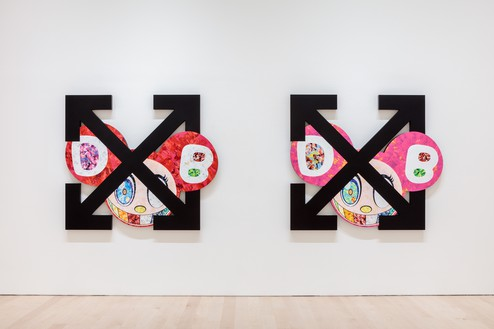 Installation view Artwork ©︎ Virgil Abloh and ©︎ Takashi Murakami. Photo: Joshua White