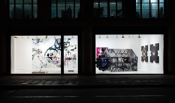 Installation view Artwork ©︎ Virgil Abloh and ©︎ Takashi Murakami. Photo: Lucy Dawkins