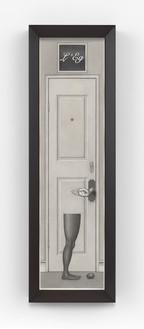 Paul Noble, L'Eg Noir, 2015 Pencil on paper, in artist's frame, 65 ½ × 20 ½ × 4 ½ inches (166.2 × 52.1 × 11.4 cm)© Paul Noble. Photo: Mike Bruce