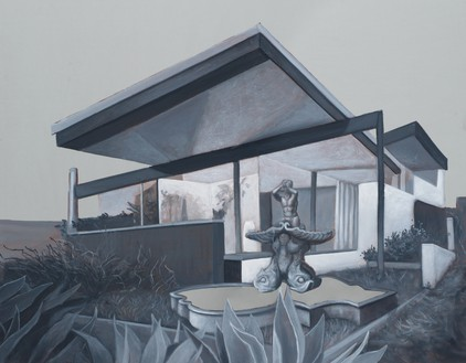 Rachel Feinstein, Neutra Place, 2018 Oil and enamel on mirror, 25 × 32 inches (63.5 × 81.3 cm)© Rachel Feinstein. Photo: Jeff McLane
