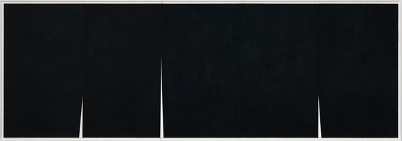 Richard Serra, Quadruple Rift, 2017 Paintstick on handmade Japanese paper, 9 feet 2 inches × 26 feet 10 inches (2.79 × 8.17 m)The Menil Collection, Houston, Purchased with funds provided by Louisa Stude Sarofim© Richard Serra/DACS, London, 2018. Photo: Rob McKeever