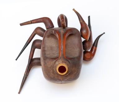 Romuald Hazoumè, Cocotamba, 2017 Plastic and wood, 10 ¼ × 12 ⅝ × 8 ¾ inches (26 × 32 × 22 cm)© 2018 Romuald Hazoumè and Artists Rights Society (ARS), New York/ADAGP, Paris. Photo: Zarko Vijatovic
