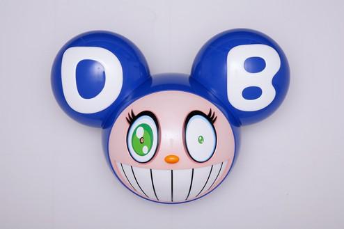 Takashi Murakami, He-he-he (DOB), 2018 Fiber-reinforced plastic, urethane paint, and stainless steel, 49 × 66 ½ × 35 ¾ inches (124.4 × 168.9 × 90.8 cm); 1 of 3 unique versions + 2 AP© 2018 Takashi Murakami/Kaikai Kiki Co., Ltd. All rights reserved