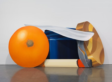 Tom Wesselmann, Still Life with Blue Jar and Smoking Cigarette, 1981 Oil on shaped canvas, in 4 parts, overall: 108 × 221 × 66 inches (274.3 × 561.3 × 167.6 cm)© The Estate of Tom Wesselmann/Licensed by VAGA, New York
