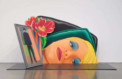 Tom Wesselmann, Bedroom Painting #32, 1976–78 Oil on shaped canvas and painted platform, in 2 parts, not including platform, overall: 102 × 190 ⅝ × 85 inches (259.1 × 484.2 × 215.9 cm)© The Estate of Tom Wesselmann/Licensed by VAGA, New York
