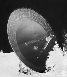 Vera Lutter, Radio Telescope, Effelsberg, XV: September 12, 2013, 2013 Gelatin silver print, 96 × 84 inches (243.8 × 213.4 cm), unique print© Vera Lutter