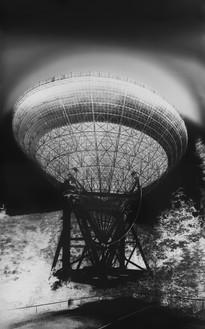 Vera Lutter, Radio Telescope, Effelsberg, III: September 2, 2013, 2013 Gelatin silver print, 89 ¼ × 56 inches (226.7 × 142.2 cm), unique print© Vera Lutter