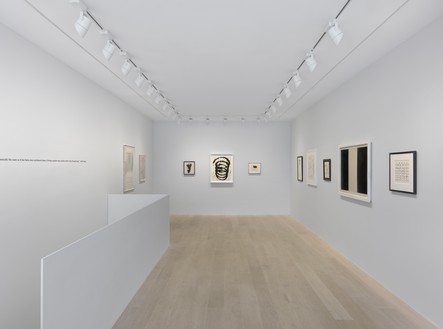 Installation view Artwork, left to right: © Cy Twombly Foundation; © 2019 Richard Artschwager/Artists Rights Society (ARS), New York; © 2019 The Franz Kline Estate/Artists Rights Society (ARS), New York; © Richard Serra; © 2019 Dedalus Foundation, Inc./Licensed by VAGA at Artists Rights Society (ARS), New York; © Estate of Sam Francis/Artists Rights Society (ARS), New York/DACS, London; © 2019 Christine Hiebert; © 2019 The Franz Kline Estate/Artists Rights Society (ARS), New York; © Brice Marden; © 2019 Bruce Conner/Artists Rights Society (ARS), New York