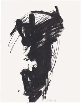 Franz Kline, Untitled, c. 1950–59 Ink on paper, 14 × 11 inches (35.6 × 27.9 cm)© 2019 The Franz Kline Estate/Artists Rights Society (ARS), New York